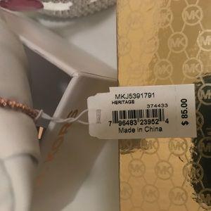 Michael Kors Jewelry - MIchael Kors New Heritage Rose Gold Bracelet!